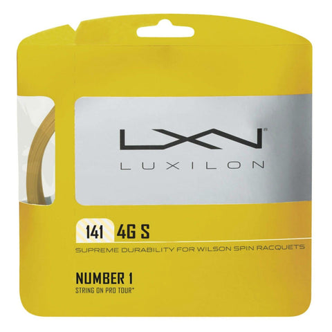 Luxilon 4G S 15 Tennis String (Gold)