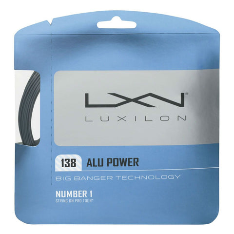 Luxilon ALU Power 15 Tennis String (Silver)