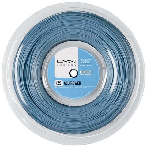 Luxilon ALU Power 16L Tennis String Reel (Ice Blue) - RacquetGuys