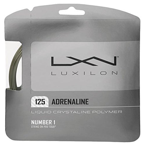 Luxilon Adrenaline 16L Tennis String (Platinum)