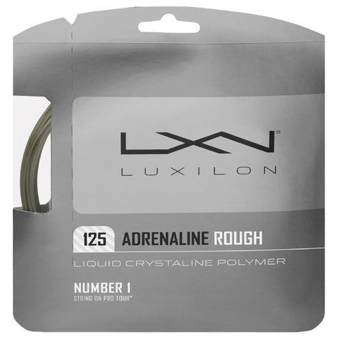 Luxilon Adrenaline Rough 16L Tennis String (Platinum) - RacquetGuys