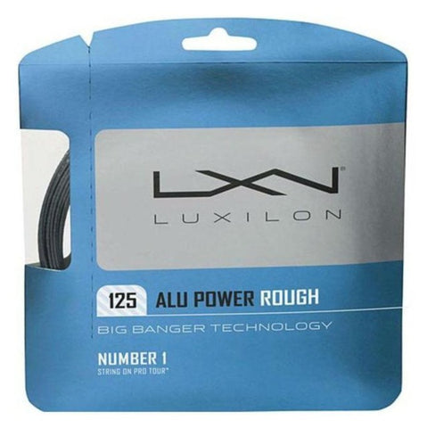 Luxilon ALU Power Rough 16L Tennis String (Silver) - RacquetGuys.ca