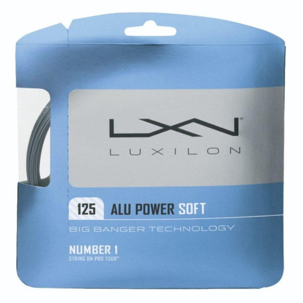 Luxilon ALU Power Soft 16L Tennis String (Silver) - RacquetGuys