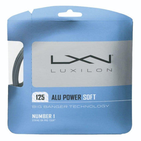 Luxilon ALU Power Soft 16L Tennis String (Silver)