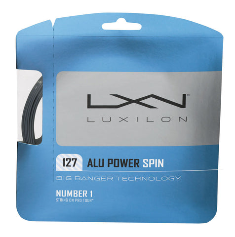 Luxilon ALU Power Spin 16L Tennis String (Silver) - RacquetGuys