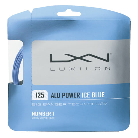 Luxilon ALU Power 16L Tennis String (Ice Blue)