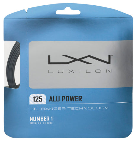 Luxilon ALU Power 16L Tennis String (Silver)