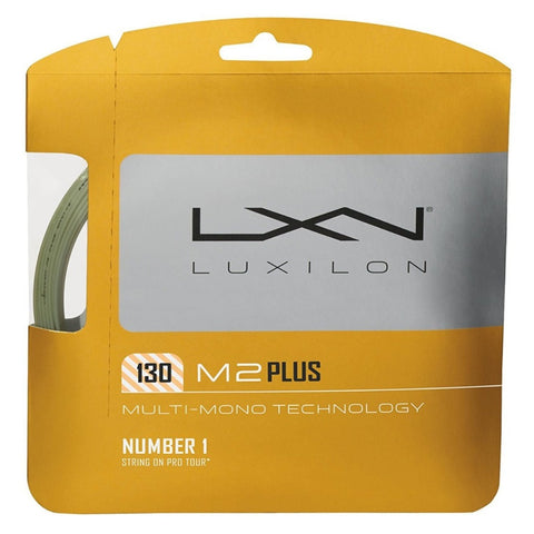 Luxilon M2 Plus 16 Tennis String (Silver)