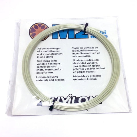 Luxilon M2 Plus 16 Tennis String (Natural) - RacquetGuys