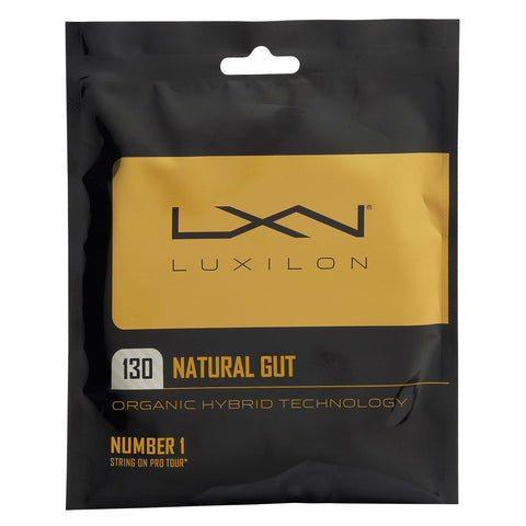 Luxilon Natural Gut 16 Tennis String (Natural)