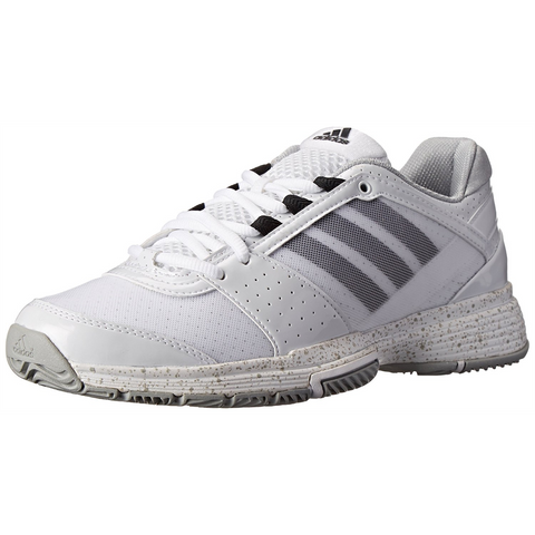 adidas Barricade Team 3 Women's Tennis Shoe (White/Black/Silver) - RacquetGuys