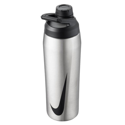 Nike Hypercharge Chug 24 oz. Water Bottle (Brushed Stainless Steel) - RacquetGuys