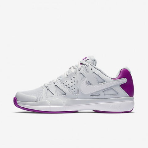 Nike Air Vapor Advantage Women's Tennis Shoe (White/Purple)