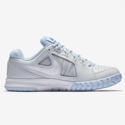 Nike Air Vapor Ace Women's Tennis Shoe (White/Blue) - RacquetGuys