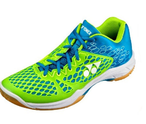 Yonex Power Cushion 03 Men's Indoor Court Shoe (Blue/Lime) - RacquetGuys