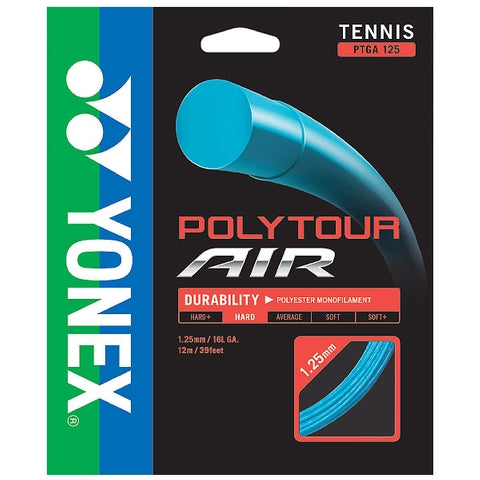 Yonex Poly Tour Air 16L 125 Tennis String (Blue) - RacquetGuys