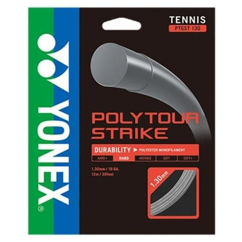 Yonex Poly Tour Strike 16 Tennis String (Grey) - RacquetGuys