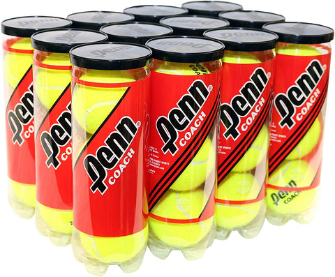 Penn Coach Teaching Tennis Balls 12 Can Case