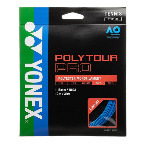 Yonex Poly Tour Pro 18 Tennis Strings (Blue) - RacquetGuys