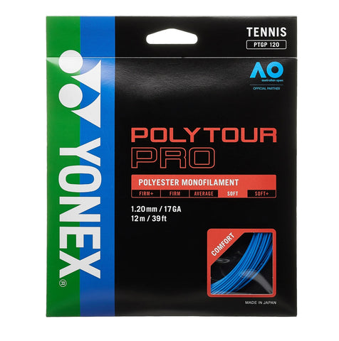 Yonex Poly Tour Pro 17 Tennis Strings (Blue) - RacquetGuys