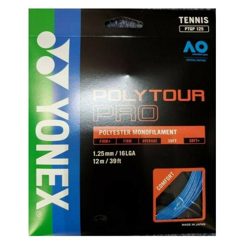 Yonex Poly Tour Pro 16L Tennis Strings (Blue) - RacquetGuys
