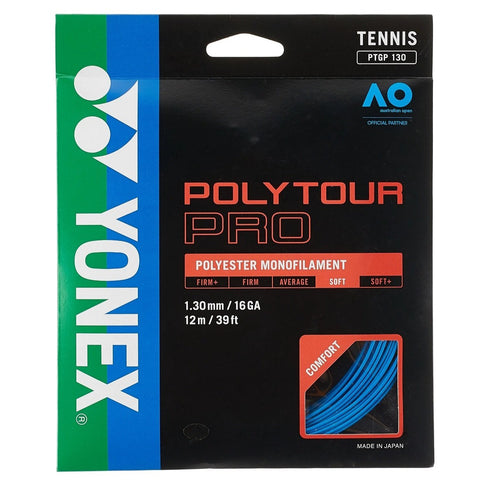 Yonex Poly Tour Pro 16 Tennis String (Blue) - RacquetGuys