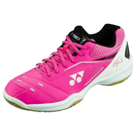 Yonex Power Cushion 65 R2 Women's Indoor Court Shoe (Bright Pink) - RacquetGuys