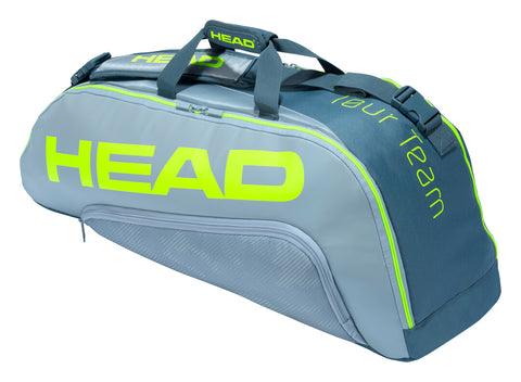 Head Tour Team Extreme Combi 6 Pack Racquet Bag (Yellow/Grey) - RacquetGuys