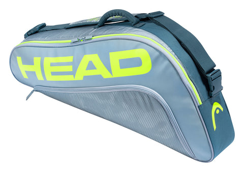Head Tour Team Extreme Pro 3 Pack Racquet Bag (Yellow/Grey) - RacquetGuys