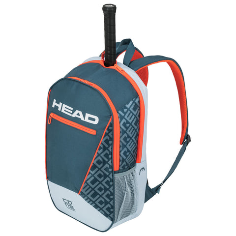 Head Core Backpack Racquet Bag (Grey/Orange) - RacquetGuys