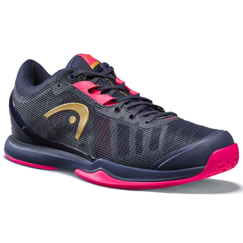 Head Sprint Pro 3.0 Women's Tennis Shoe (Navy/Pink) - RacquetGuys