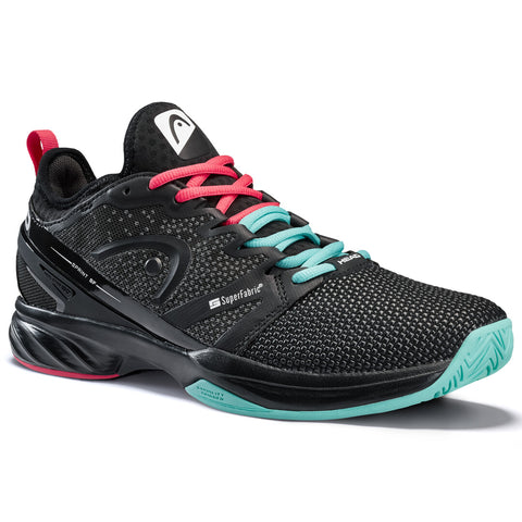 Head Sprint SF Men's Tennis Shoe (Black/Teal) - RacquetGuys