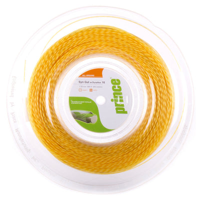 Prince Synthetic Gut 16 Duraflex Tennis String Reel (Gold)