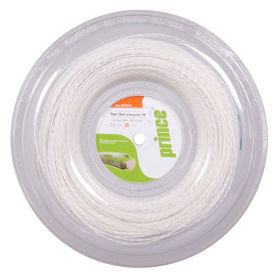 Prince Synthetic Gut 17 Duraflex Tennis String Reel (White)