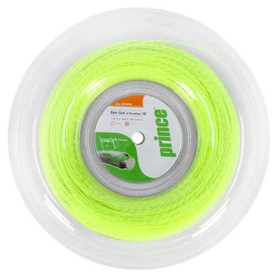 Prince Synthetic Gut 16 Duraflex Tennis String Reel (Yellow)
