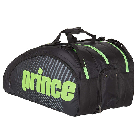 Prince Tour Challenger 9 Pack Racquet Bag (Black/Green) - RacquetGuys