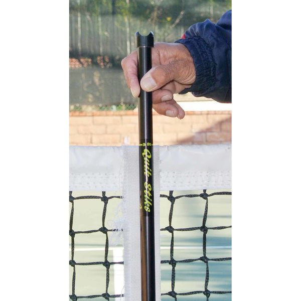 Quik-Stiks Portable Tennis Singles Net Sticks (Blue) - RacquetGuys