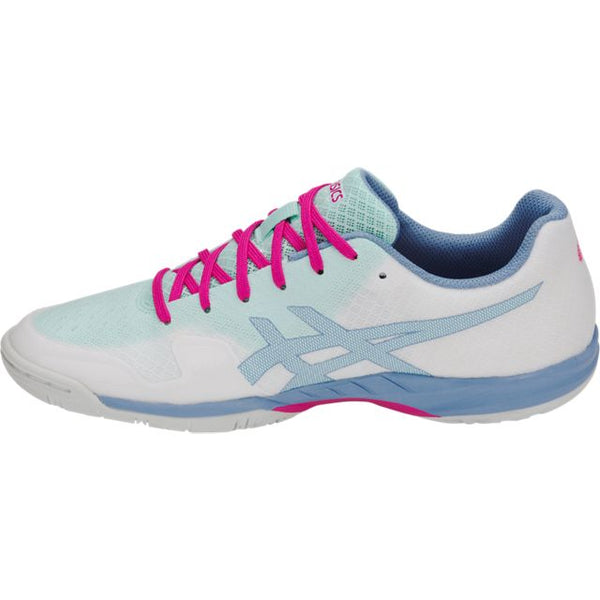Asics Gel Blade 6 Womens Indoor Court Shoe (White/Icy Morning)