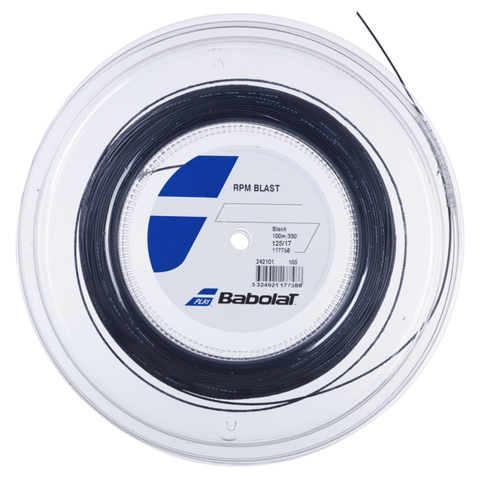 Babolat RPM Blast 17 Tennis String Mini Reel (Black) - RacquetGuys.ca