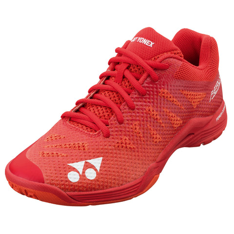 Yonex Power Cushion Aerus 3 Mens Indoor Court Shoe (Red) - RacquetGuys