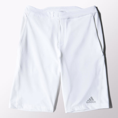 adidas Men's Barricade Bermuda Shorts (White) - RacquetGuys