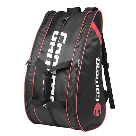 Gamma Pickleball 10 Pack Paddle Bag (Black/Red) - RacquetGuys.ca