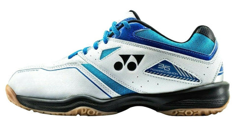 Yonex Power Cushion 36 Junior Indoor Court Shoe (White/Sky Blue) - RacquetGuys.ca