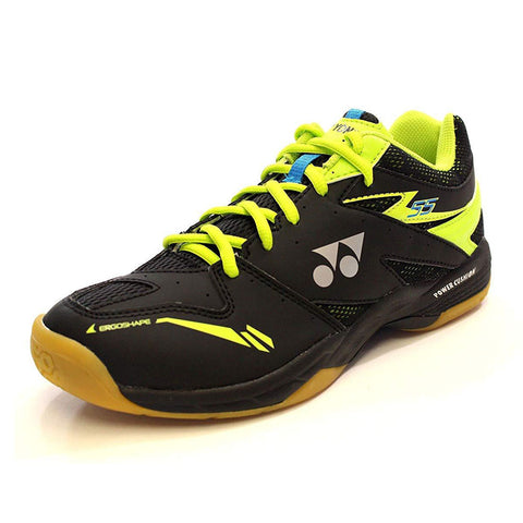 Yonex Power Cushion 55 Mens Indoor Court Shoe (Black/Lime) - RacquetGuys