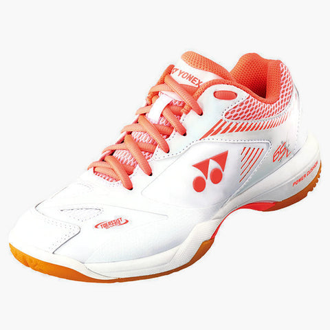 Yonex Power Cushion 65 X2 Women's Indoor Court Shoe (White) - RacquetGuys