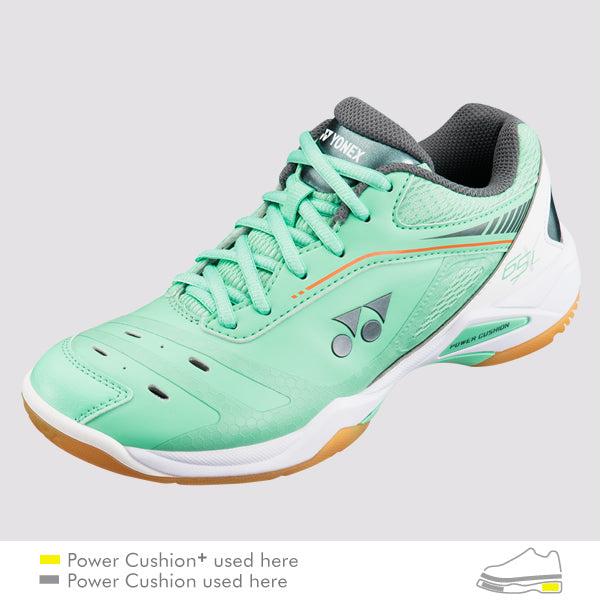 Yonex Power Cushion 65 X Womens Indoor Court Shoe (Mint) - RacquetGuys