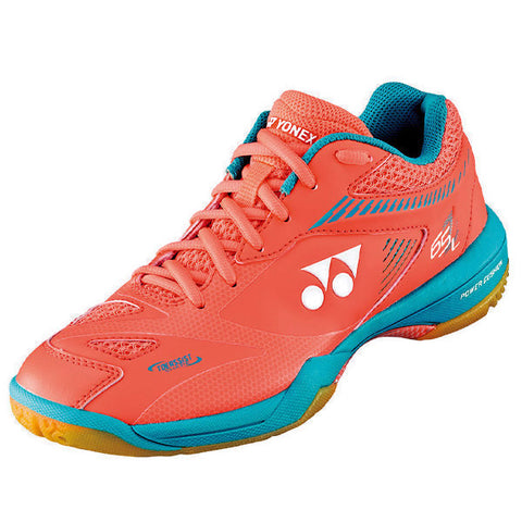 Yonex Power Cushion 65 Z2 Women's Indoor Court Shoe (Coral Orange) - RacquetGuys
