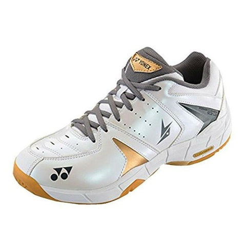 Yonex SHB SC2 Lin Dan Mens Indoor Court Shoe (White/Gold) - RacquetGuys