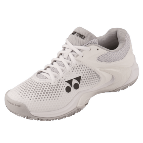 Yonex Power Cushion Eclipsion 2 Women's Tennis Shoe (White/Silver) - RacquetGuys