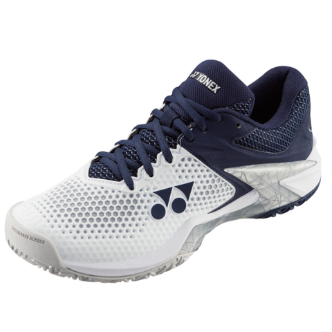 Yonex Power Cushion Eclipsion 2 Men's Tennis Shoe (White/Navy) - RacquetGuys